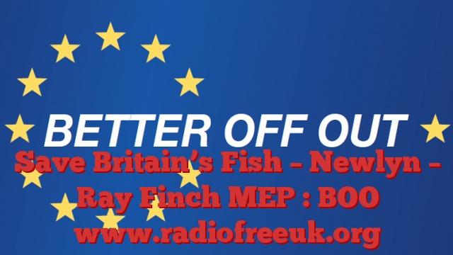 Save Britain's Fish – Newlyn – Ray Finch MEP : BOO