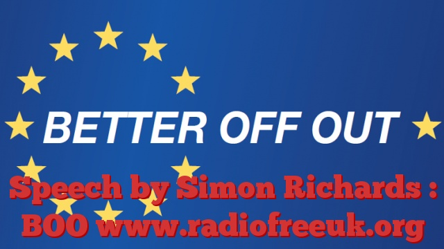 Speech by Simon Richards : BOO