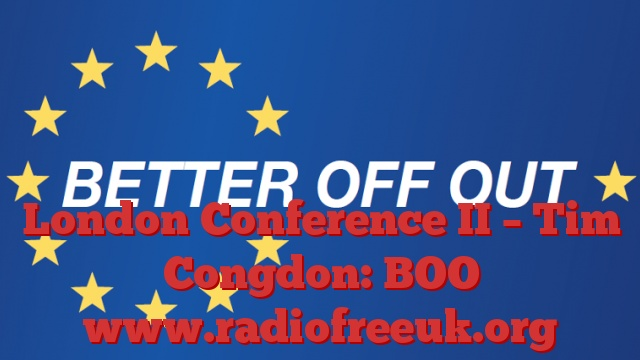 London Conference II – Tim Congdon: BOO