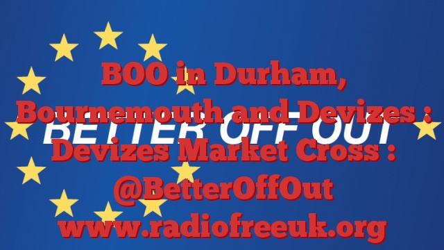 BOO in Durham, Bournemouth and Devizes : Devizes Market Cross : @BetterOffOut