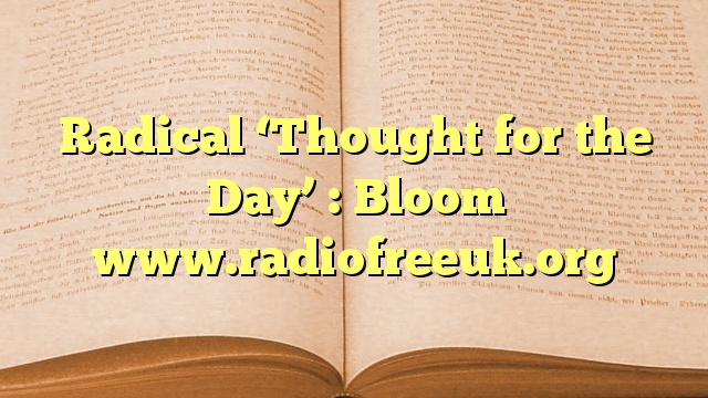 Radical 'Thought for the Day' : Bloom
